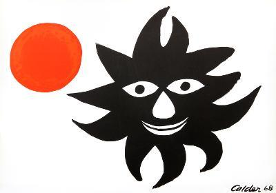 Red Sun-Alexander Calder-Collectable Print