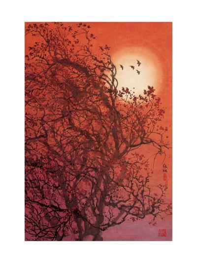 Red Sunset II-Baogui Zhang-Giclee Print