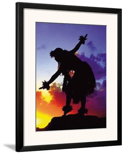 Red Sunset, Maui, Hawaii-Ronald Laes-Framed Giclee Print