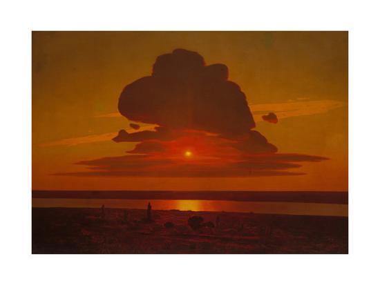 Red Sunset on the Dnieper, 1905-1908-Arkhip Ivanovich Kuindzhi-Giclee Print