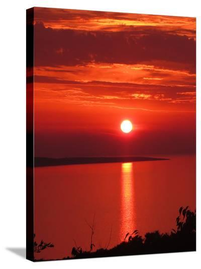 Red Sunset Sunrise Holiday-Wonderful Dream-Stretched Canvas Print