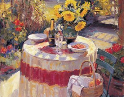 Red Table-Edward Noott-Art Print