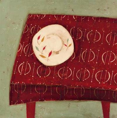 Red Table-Oakley-Art Print
