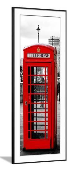 Red Telephone Booths - London - UK - England - United Kingdom - Europe - Door Poster-Philippe Hugonnard-Framed Photographic Print
