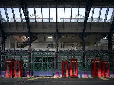 Red Telephone Boxes, Smithfield Market, Smithfield, London-Richard Bryant-Photographic Print