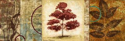 Red Tree Panel II-Michael Marcon-Premium Giclee Print