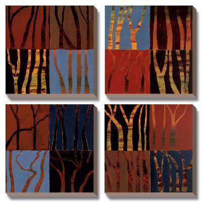 Red Trees II-Gail Altschuler-Canvas Art Set
