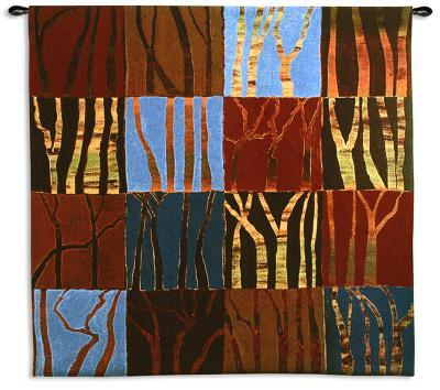 Red Trees Large-Gail Altschuler-Wall Tapestry