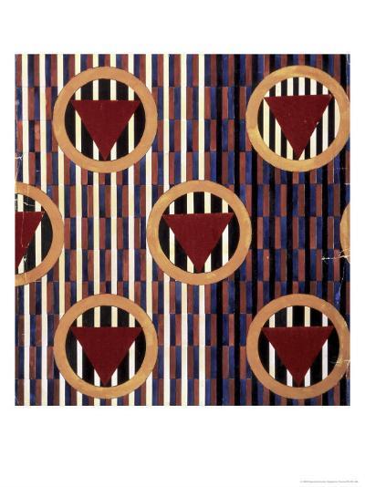 Red Triangles in Round-Liubov Sergeevna Popova-Giclee Print