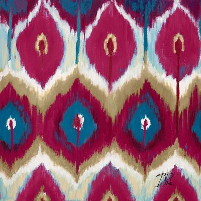 Red Tropical Ikat II-Patricia Pinto-Art Print
