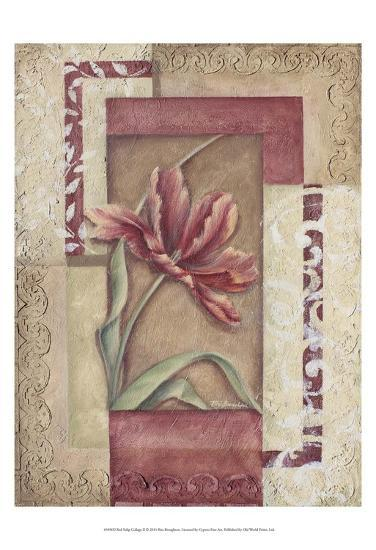 Red Tulip Collage II-Rita Broughton-Art Print