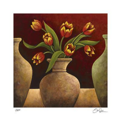Red Tulips-Georgia Rene-Giclee Print