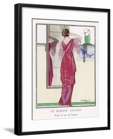 Red Tunic Dress by Paquin- Maggie-Framed Giclee Print