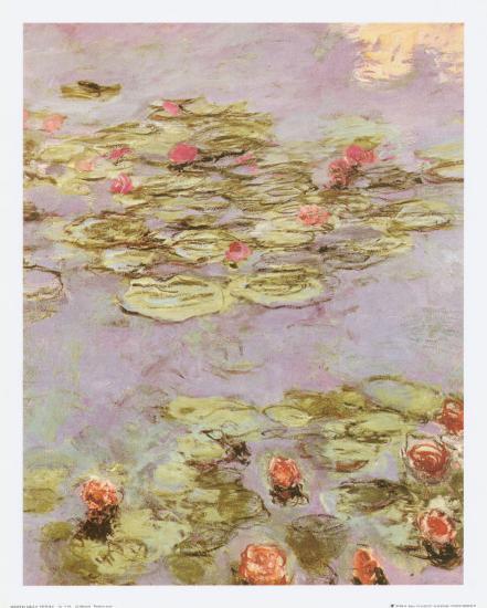 Red Water Lilies-Claude Monet-Art Print