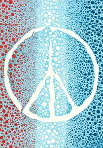 Red White and Blue Peace Sign