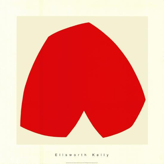 Red White, c.1962-Ellsworth Kelly-Serigraph