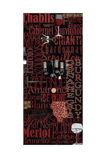 Red Wine - Black-Lisa Wolk-Art Print