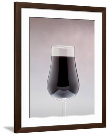 Red Wine in a glass--Framed Photographic Print