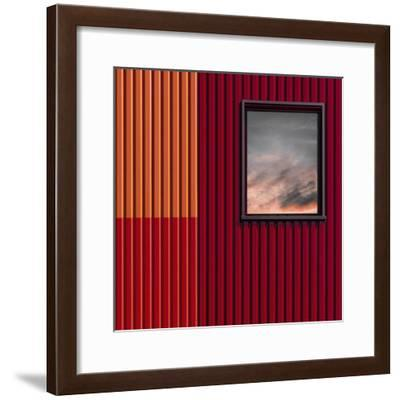 Red with a touch of sky-Luc Vangindertael (laGrange)-Framed Photographic Print