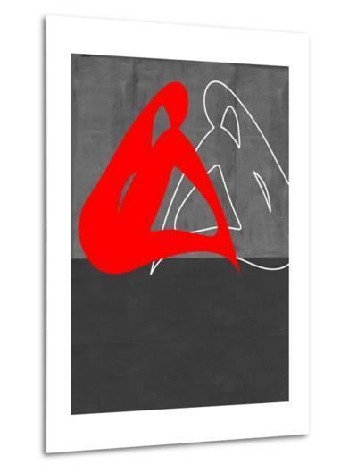 Red Woman-NaxArt-Metal Print
