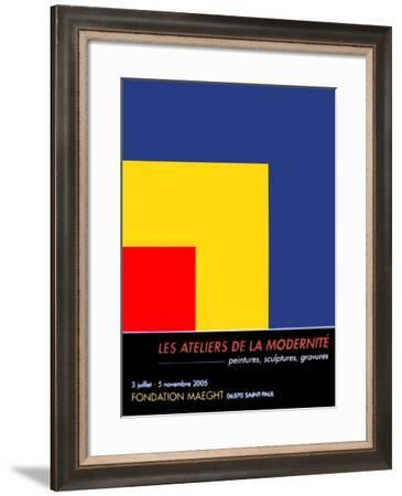 Red, Yellow, Blue, c.1963-Ellsworth Kelly-Framed Art Print