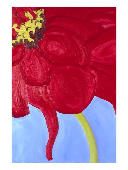 Red Zinnia-Soraya Chemaly-Premium Giclee Print