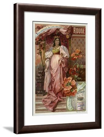Red--Framed Giclee Print