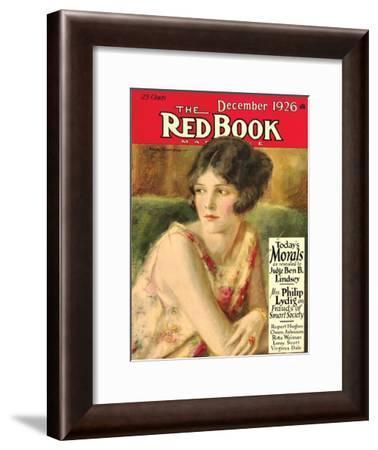 Redbook, December 1926--Framed Art Print