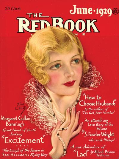 Redbook, June 1929--Art Print