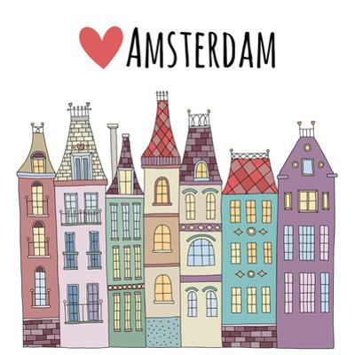 Amsterdam Cute Houses Town City Street by redchocolatte
