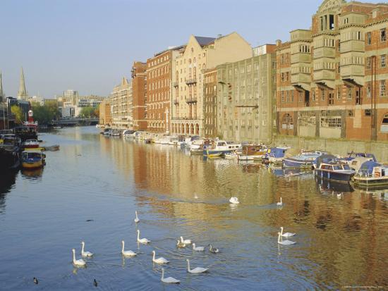 Redcliffe Wharf, Bristol Harbour, Bristol, England, UK-Rob Cousins-Photographic Print