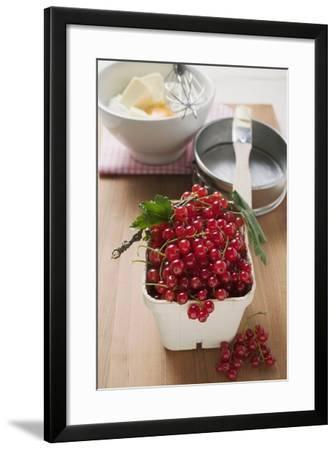 Redcurrants, Baking Ingredients and Utensils-Foodcollection-Framed Photographic Print