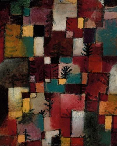 Redgreen and Violet-Yellow Rhythms, 1920-Paul Klee-Art Print