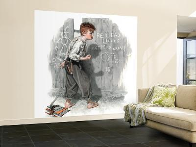 """""""Redhead Loves Hatti"""" Saturday Evening Post Cover, September 16,1916-Norman Rockwell-Wall Mural – Large"""