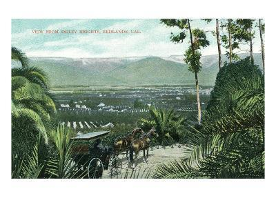 Redlands, California - View from Smiley Heights-Lantern Press-Art Print