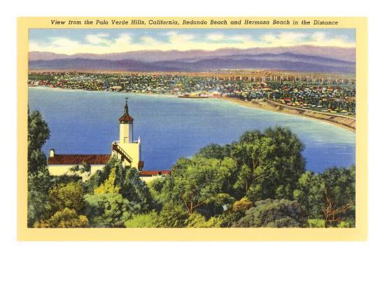 Redondo and Hermosa Beach, California--Art Print