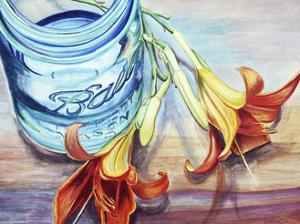 Ball Jar Flower I by Redstreake