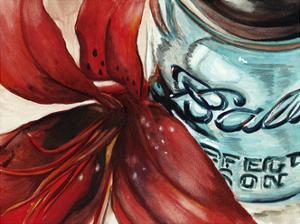 Ball Jar Flower II by Redstreake