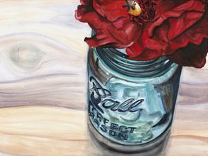 Ball Jar Flower III by Redstreake