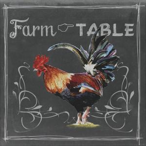 Chalkboard Farm Animals III by Redstreake