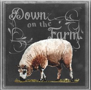 Chalkboard Farm Animals IV by Redstreake