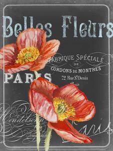 Chalkboard Fleurs I by Redstreake