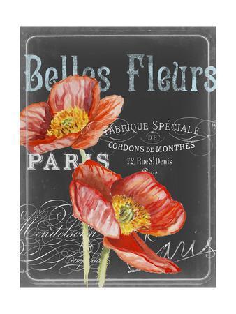 Chalkboard Fleurs I