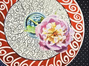 Flower on Plate I by Redstreake