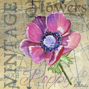 Vintage Flower Collage I by Redstreake