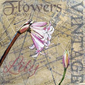 Vintage Flower Collage II by Redstreake