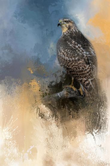 Redtail in Winter-Jai Johnson-Giclee Print