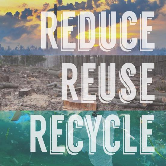 Reduce Reuse Recycle-Color Me Happy-Art Print
