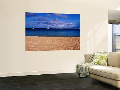 Reduit Beach and Yachts on Rodney Bay-Richard l'Anson-Wall Mural