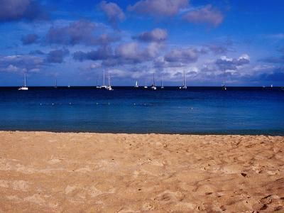 Reduit Beach and Yachts on Rodney Bay-Richard l'Anson-Photographic Print